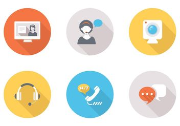 Free Flat Live Chat Vector Icons - бесплатный vector #140147