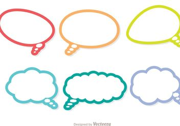 Colorful Outline Live Chat Icons Vector Pack - Free vector #140297