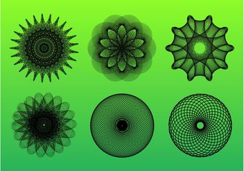 Digital Rosettes - vector #140517 gratis