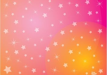Pink Stars Background - Free vector #140527