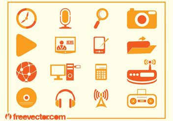 Tech Vector Icons - Free vector #140657