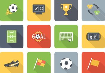 Free Flat Soccer Vector Icons Two - Free vector #140717