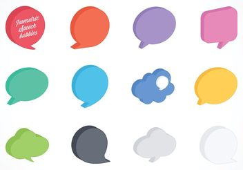 Free Vector Isometric Speech Bubbles - Free vector #140807