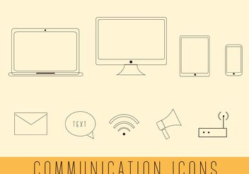 Free Simple Communication Vectors - vector #140827 gratis