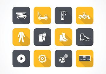 Free Flat Construction Vector Icons - vector gratuit #140847