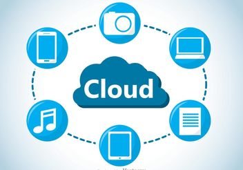 Cloud Computing Concept Vector - бесплатный vector #140897