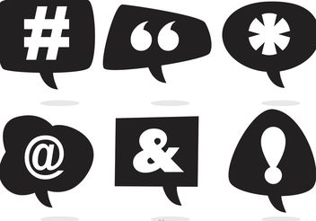 Social Media Speech Bubble Vectors - Free vector #140937