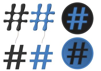 Be Popular With Hashtag Vectors - Free vector #141017