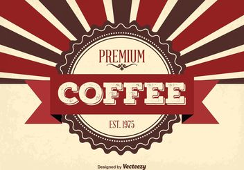Premium Coffee Background - Kostenloses vector #141037