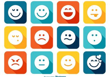 Emoticon Icon Set - Kostenloses vector #141107
