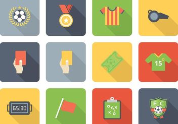 Free Vector Soccer Icon Set - Free vector #141117