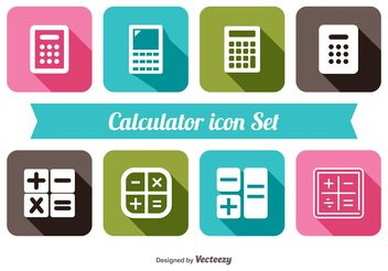 Trendy Calculator Icon Set - Free vector #141127