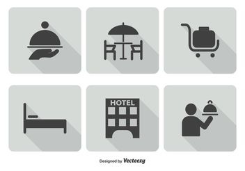 Hotel Service Icon Set - vector gratuit #141137