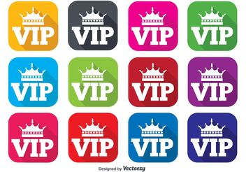 VIP Flat Icon Set - Free vector #141157