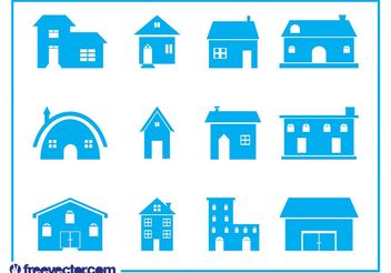 House Icon Set - vector gratuit #141187