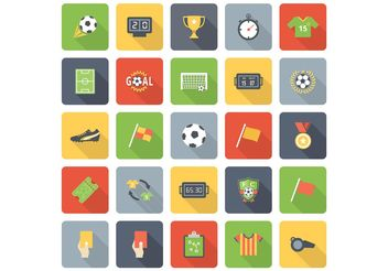 Free Flat Soccer Vector Icons - Free vector #141237