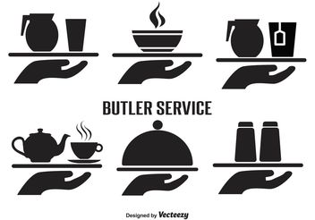 Butler Service Vector Icon Set - vector gratuit #141287