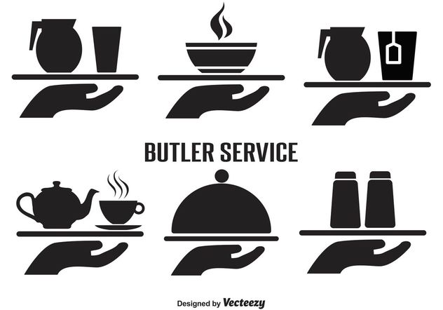 Butler Service Vector Icon Set - vector #141287 gratis
