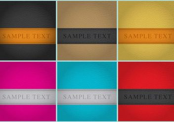Leather Background Templates - Kostenloses vector #141347