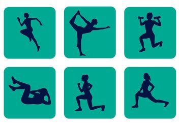 Vector Sport Silhouettes - Free vector #141397