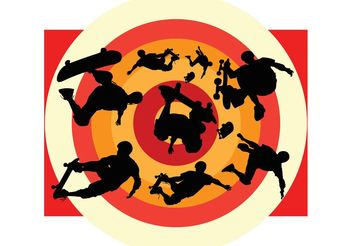 Skateboard Action - Free vector #141457