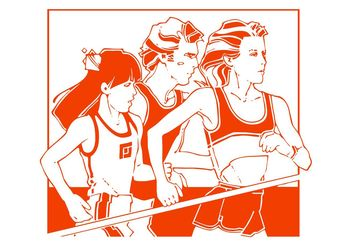 Running Athletes Graphics - Free vector #141467