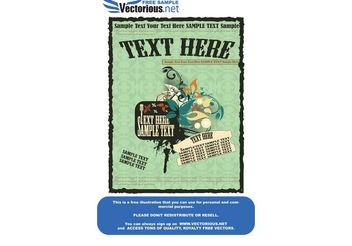 Vintage poster - Free vector #141517