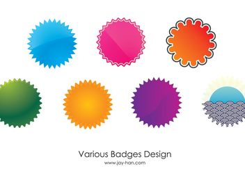 7 Web 2.0 badges vector - Free vector #141607