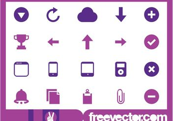 Tech And Web Icons - Kostenloses vector #141657