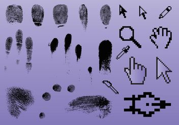Fingerprint Pointer Graphics - Kostenloses vector #141727