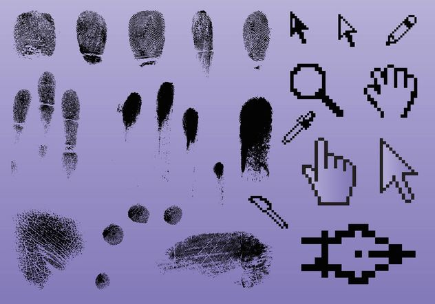 Fingerprint Pointer Graphics - Free vector #141727