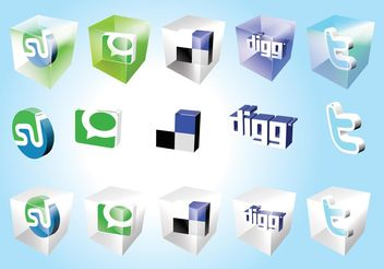 Social Bookmark Icons - Kostenloses vector #141737