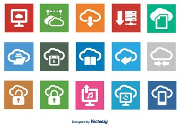 Cloud Computing Icon Set - vector gratuit #141877