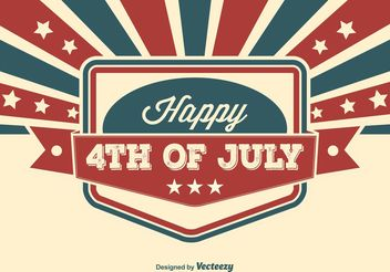 Fourth of July Illustration - vector gratuit #141897