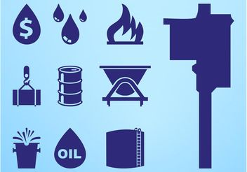 Oil Icon Set - vector gratuit #141937