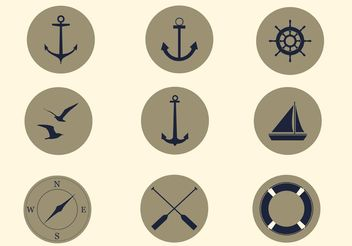 Free Vector Nautical Icon Set - Kostenloses vector #141957