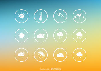 Free Vector Weather Icon Set - бесплатный vector #141977