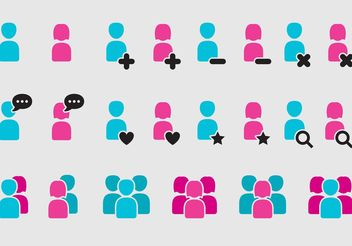 Woman And Man App Icons - Free vector #141987