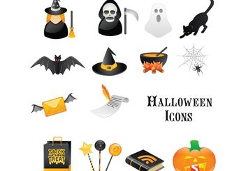 Halloween Icons - vector #142007 gratis