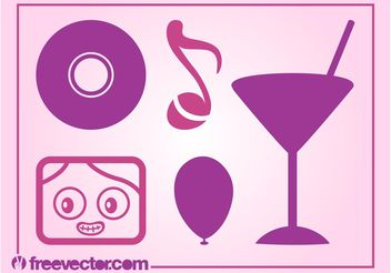 Party Icons Vector - Free vector #142097