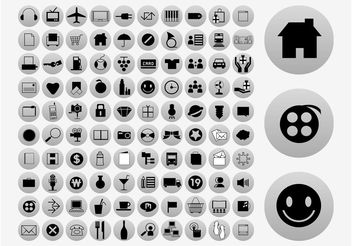 Vector Icons Collection - vector gratuit #142137