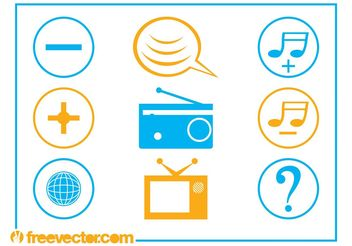 Communication And Tech Icons - vector gratuit #142167
