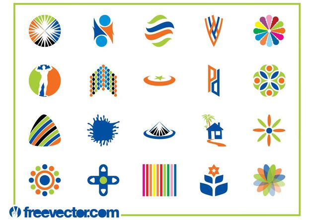 Colorful Logo Templates Graphics - Free vector #142217
