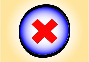 Delete Button - vector gratuit #142307