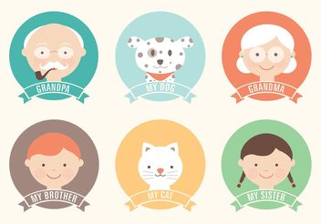 Free Flat Family Vector Icon Set - Free vector #142367