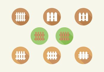 Picket Fence Vector Icons Set - Free vector #142377