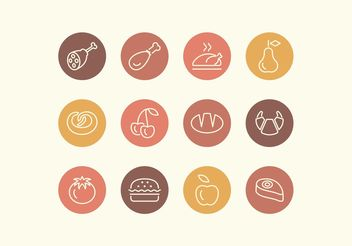 Free Line Food Vector Icon Set - бесплатный vector #142387
