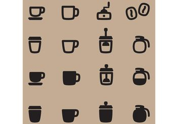 Coffee Vector Icons - vector gratuit #142517