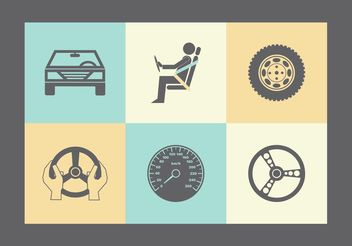 Free Vector Car Parts Icons - Free vector #142537