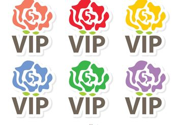 Rose VIP Icons Vector Pack - vector gratuit #142567